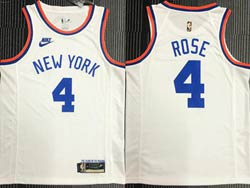 Mens Nba New York Knicks #4 Derrick Rose White 75th Mitchell&ness Hardwood Classics Swingman Nike Jersey