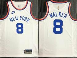 Mens Nba New York Knicks #8 Walker White 75th Mitchell&ness Hardwood Classics Swingman Nike Jersey