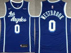 Mens Nba Los Angeles Lakers #0 Russell Westbrook Blue 2021-22 Classics Edition Swingman Nike Jersey