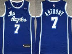 Mens Nba Los Angeles Lakers #7 Anthony Blue 2021-22 Classics Edition Swingman Nike Jersey