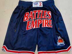 Mens Nba Battles Empire Dark Blue Just Don Pocket Shorts