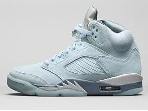 Mens Air Jordan 5 Blue Bird Basketball Shoes One Color