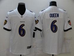 Mens Nfl Baltimore Ravens #6 Patrick Queen White Vapor Untouchable Limited Nike Jersey