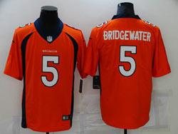 Mens Nfl Denver Broncos #5 Teddy Bridgewater Orange Vapor Untouchable Nike Jersey