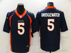 Mens Nfl Denver Broncos #5 Teddy Bridgewater Blue Vapor Untouchable Nike Jersey