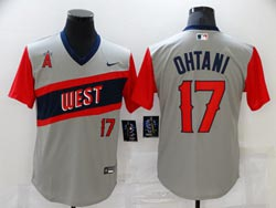 Mens Mlb Los Angeles Angels #17 Shohei Ohtani Gray 2021 Little League Classic Pullover Nike Jersey