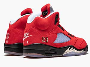 Mens And Women Air Jordan 5 Retro Trophy Room Friends And Family Basketball Shoes Red Blue