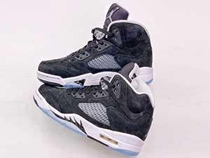 Mens Air Jordan 5 Retro Oreo Basketball Shoes Black