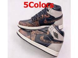 Mens And Women Nike Air Jordan 1 Retro High Og Basketball Shoes 5 Colors