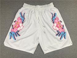 Nba Miami Heat White Pink Panther Pocket Shorts
