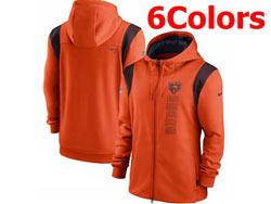 Mens Nfl Chicago Bears Nike Hoodie Jacket 6 Colors