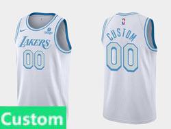 Mens Nba Los Angeles Lakers Custom Made White 2021-22 Season Swingman Nike Jersey