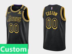Mens Nba Los Angeles Lakers Custom Made Black 2021-22 Season Swingman Nike Jersey