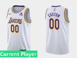 Mens Nba Los Angeles Lakers Current Player White (purple Number)2021-22 Season Swingman Nike Jersey