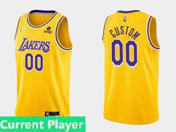 Mens Nba Los Angeles Lakers Current Player Yellow 2021-22 Season Swingman Nike Jersey