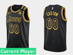 Mens Nba Los Angeles Lakers Current Player Black 2021-22 Season Swingman Nike Jersey