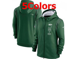Mens Nfl New York Jets Nike Hoodie Jacket 5 Colors