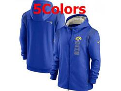 Mens Nfl Los Angeles Rams Nike Hoodie Jacket 5 Colors