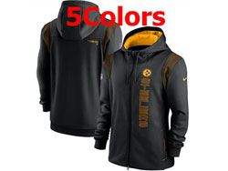 Mens Nfl Pittsburgh Steelers Nike Hoodie Jacket 5 Colors