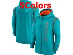 Mens Nfl Miami Dolphins Nike Hoodie Jacket 5 Colors
