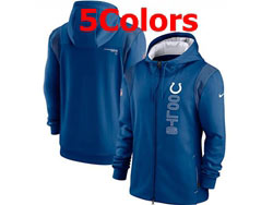 Mens Nfl Indianapolis Colts Nike Hoodie Jacket 5 Colors