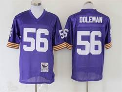 Mens Nfl Minnesota Vikings #56 Chris Doleman Purple Mitchell&ness Throwback Jersey