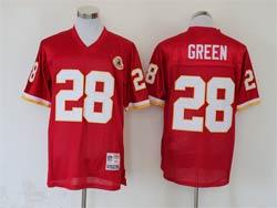 Mens Nfl Washington Football Team #28 Darrell Green Red Mitchell&ness Throwback Jersey