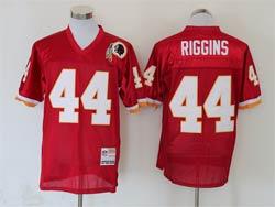 Mens Nfl Washington Redskins #44 John Riggins Red Mitchell&ness Throwback Jersey