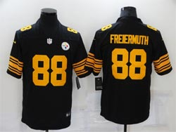 Mens Nfl Pittsburgh Steelers #88 Pat Freiermuth Black Color Rush Vapor Untouchable Limited Nike Jersey
