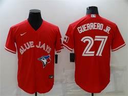 Mens Mlb Toronto Blue Jays #27 Vladimir Guerrero Jr. Red Cool Base Nike Jersey