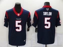 Mens Nfl Houston Texans #5 Tyrod Taylor Blue Vapor Untouchable Limited Nike Jersey
