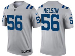 Mens 2021 Nfl Indianapolis Colts #56 Quenton Nelson Gray Inverted Legend Nike Jersey