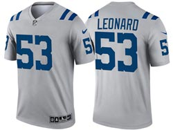 Mens 2021 Nfl Indianapolis Colts #53 Darius Leonard Gray Inverted Legend Nike Jersey