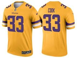 Mens 2021 Nfl Minnesota Vikings #33 Dalvin Cook Yellow Inverted Legend Nike Jersey