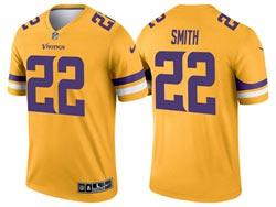 Mens 2021 Nfl Minnesota Vikings #22 Harrison Smith Yellow Inverted Legend Nike Jersey