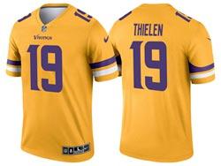 Mens 2021 Nfl Minnesota Vikings #19 Adam Thielen Yellow Inverted Legend Nike Jersey