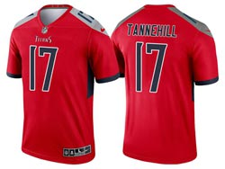 Mens 2021 Nfl Tennessee Titans #17 Ryan Tannehill Red Inverted Legend Nike Jersey