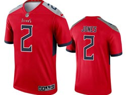 Mens 2021 Nfl Tennessee Titans #2 Julio Jones Red Inverted Legend Nike Jersey