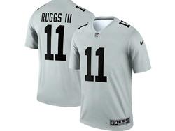 Mens 2021 Nfl Las Vegas Raiders #11 Henry Ruggs Iii Gray Inverted Legend Nike Jersey