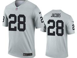 Mens 2021 Nfl Las Vegas Raiders #28 Josh Jacobs Gray Inverted Legend Nike Jersey