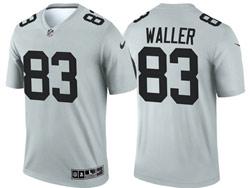Mens 2021 Nfl Las Vegas Raiders #83 Darren Waller Gray Inverted Legend Nike Jersey