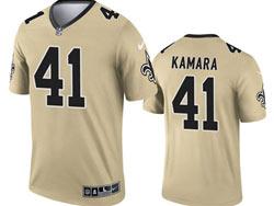 Mens 2021 Nfl New Orleans Saints #41 Alvin Kamara Gold Inverted Legend Nike Jersey