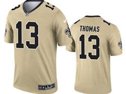 Mens 2021 Nfl New Orleans Saints #13 Michael Thomas Gold Inverted Legend Nike Jersey