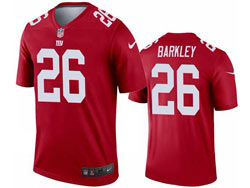 Mens 2021 Nfl New York Giants #26 Saquon Barkley Red Inverted Legend Nike Jersey