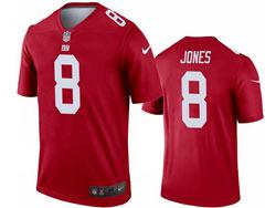 Mens 2021 Nfl New York Giants #8 Daniel Jones Red Inverted Legend Nike Jersey