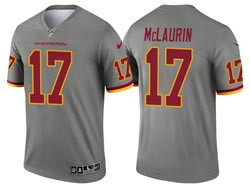 Mens 2021 Nfl Washington Football Team #17 Terry Mclaurin Gray Inverted Legend Nike Jersey