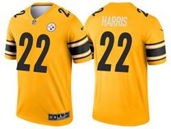 Mens 2021 Nfl Pittsburgh Steelers #22 Najee Harris Yellow Inverted Legend Nike Jersey