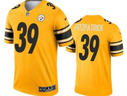 Mens 2021 Nfl Pittsburgh Steelers #39 Minkah Fitzpatrick Yellow Inverted Legend Nike Jersey