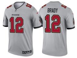 Mens 2021 Nfl Tampa Bay Buccaneers #12 Tom Brady Gray Inverted Legend Nike Jersey