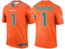 Mens 2021 Nfl Miami Dolphins #1 Tua Tagovailoa Orange Inverted Legend Nike Jersey